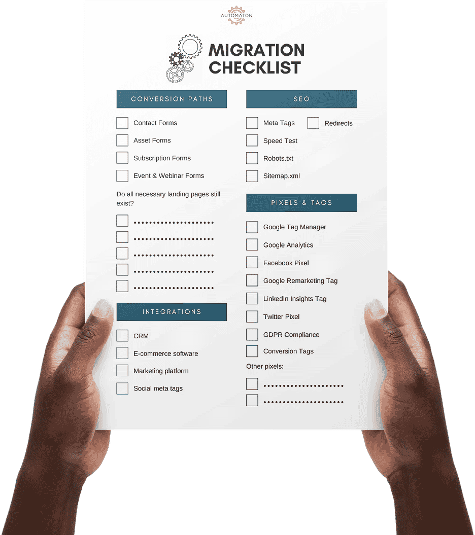 Site Migration Checklist